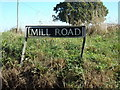 TM4198 : Mill Road sign by Geographer