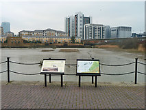 TQ3980 : East India Dock Basin by Robin Webster