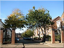 TG5207 : Entrance to Clarendon Court as seen from Middlegate by Evelyn Simak