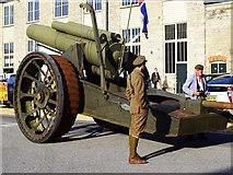SU1484 : Howitzer, 'Steam' museum, Swindon (1) by Brian Robert Marshall