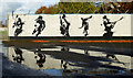 H4573 : Mural and reflections, St. Patrick�s Park, Omagh : Week 43