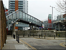 TQ3880 : Footbridge to East India station by Robin Webster