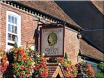 TQ0487 : The Green Man, Denham (pub sign) by Andrew Curtis