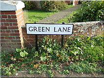 TL9125 : Green Lane sign by Geographer