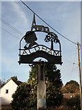 TL9125 : Aldham Village sign by Geographer