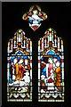 SO5156 : Window inside St. Luke's Church (Nave   Stoke Prior) by Fabian Musto
