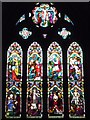 SO5156 : Window inside St. Luke's Church (Chancel   Stoke Prior) by Fabian Musto
