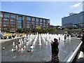 SJ8498 : Fountains in Piccaddilly Gardens by Gerald England