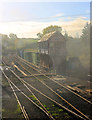 TQ8632 : Signal Box in the Smoke by Des Blenkinsopp