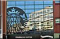 J3374 : Starbucks logo, Belfast (October 2018) by Albert Bridge