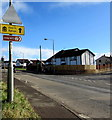 ST4387 : Direction signs alongside the B4245 in Undy, Monmouthshire by Jaggery