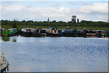 SP4907 : Boats moored, River Thames by N Chadwick
