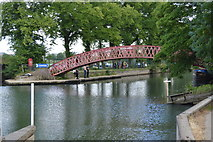 SP4907 : Footbridge to Fiddler's Island by N Chadwick
