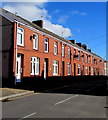 SS9184 : Row of brick houses, Wigan Terrace, Bryncethin by Jaggery