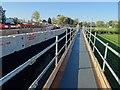 SO8540 : Walkway beside roadworks by Philip Halling