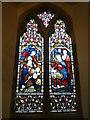 SO3828 : Window inside St. Michael & All Angels Church (Chancel   Ewyas Harold) by Fabian Musto