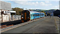 SN5881 : A train from Birmingham International arriving at Aberystwyth by John Lucas