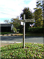 TL8930 : Signpost on Lower Green by Adrian Cable
