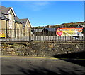 SO2701 : Slimming World banner on Pentrepiod Road railings, Pontnewynydd by Jaggery