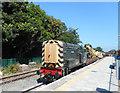 SP7902 : Train with a Crane, Princes Risborough Station by Des Blenkinsopp