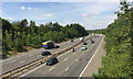 SP2265 : M40 summit by Pinley Hill by Robin Stott
