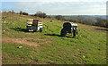 ST4455 : Trailers on Callow Hill by Derek Harper