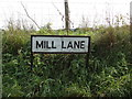 TL8629 : Mill Lane sign by Geographer