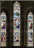 SE3265 : St John the Baptist, Bishop Monkton - Stained glass window by John Salmon
