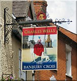SP4540 : Sign of the Banbury Cross by Gerald England