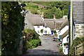 SX6739 : Thatched cottages surrounding the square, Inner Hope, Devon by Derek Voller