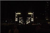 TQ1985 : View of lights on Olympic Way by Robert Lamb