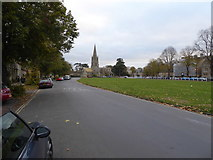 SP3509 : View on Church Green in Witney by Jeremy Bolwell