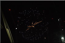 TQ1985 : View of fireworks in the Light Up the Night event from the Wembley Stadium walkway #17 by Robert Lamb