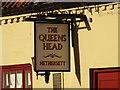 TG1504 : The Queen's Head, Hethersett, Sign by Adrian S Pye