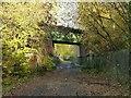 SK4747 : Former railway bridge over Lamb Close Lane by Alan Murray-Rust