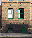 TQ3480 : Plaque to Lincoln Stanhope Wainright, St Peter's Vicarage, Wapping Lane, Wapping by Robin Stott