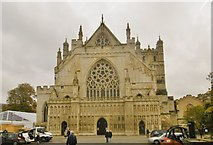 SX9292 : Exeter Cathedral by Mike Faherty