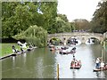 TL4458 : River Cam and King's Backs, Cambridge by David Smith
