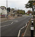SO3701 : Pelican crossing, Monmouth Road, Usk by Jaggery