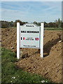 TL7932 : Sible Hedingham Village Name sign by Adrian Cable