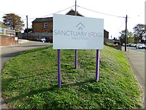 TL8131 : Sanctuary Lodge sign by Adrian Cable