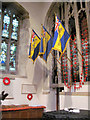 SP9211 : The British Legion Flags in Tring Parish Church by Chris Reynolds
