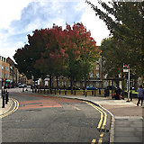 TQ3480 : Bus stop H, Wapping Green by Robin Stott