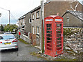 NY4335 : Telephone box, Skelton village by Rose and Trev Clough