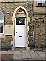 TQ3480 : Door and inscription, St Peter's Centre, Reardon Street, Wapping by Robin Stott