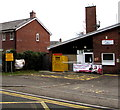 SO3701 : Yellow side of Usk Fire Station by Jaggery