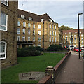 TQ3480 : Part of the Green Bank frontage of Jackman House, Wapping by Robin Stott