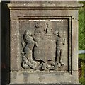 NS2572 : Carved stone at water tunnel by Lairich Rig