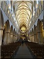ST5545 : Nave of Wells Cathedral by Philip Halling
