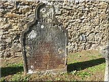 TQ6757 : Early 18th century gravestone at West Malling by Marathon
